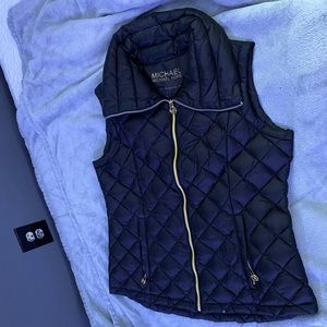 Michael Kors NEW vest black and gold